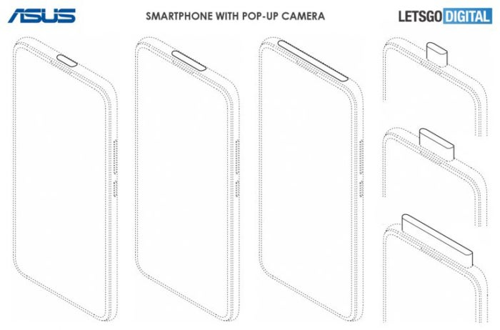 ASUS patents up to 3 variants of extendable cameras