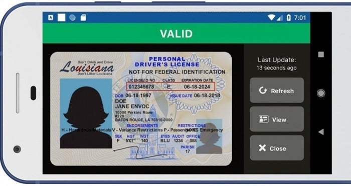 Driving license on mobile with Android 11