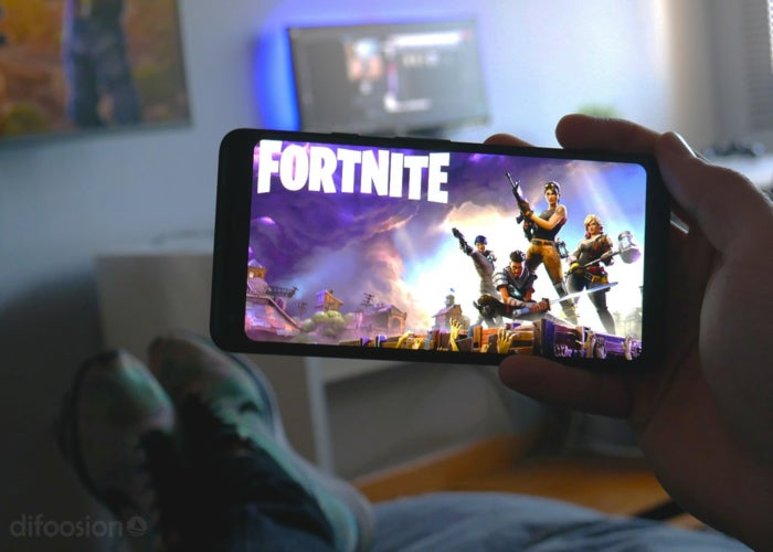 Fortnite detail on an Android phone