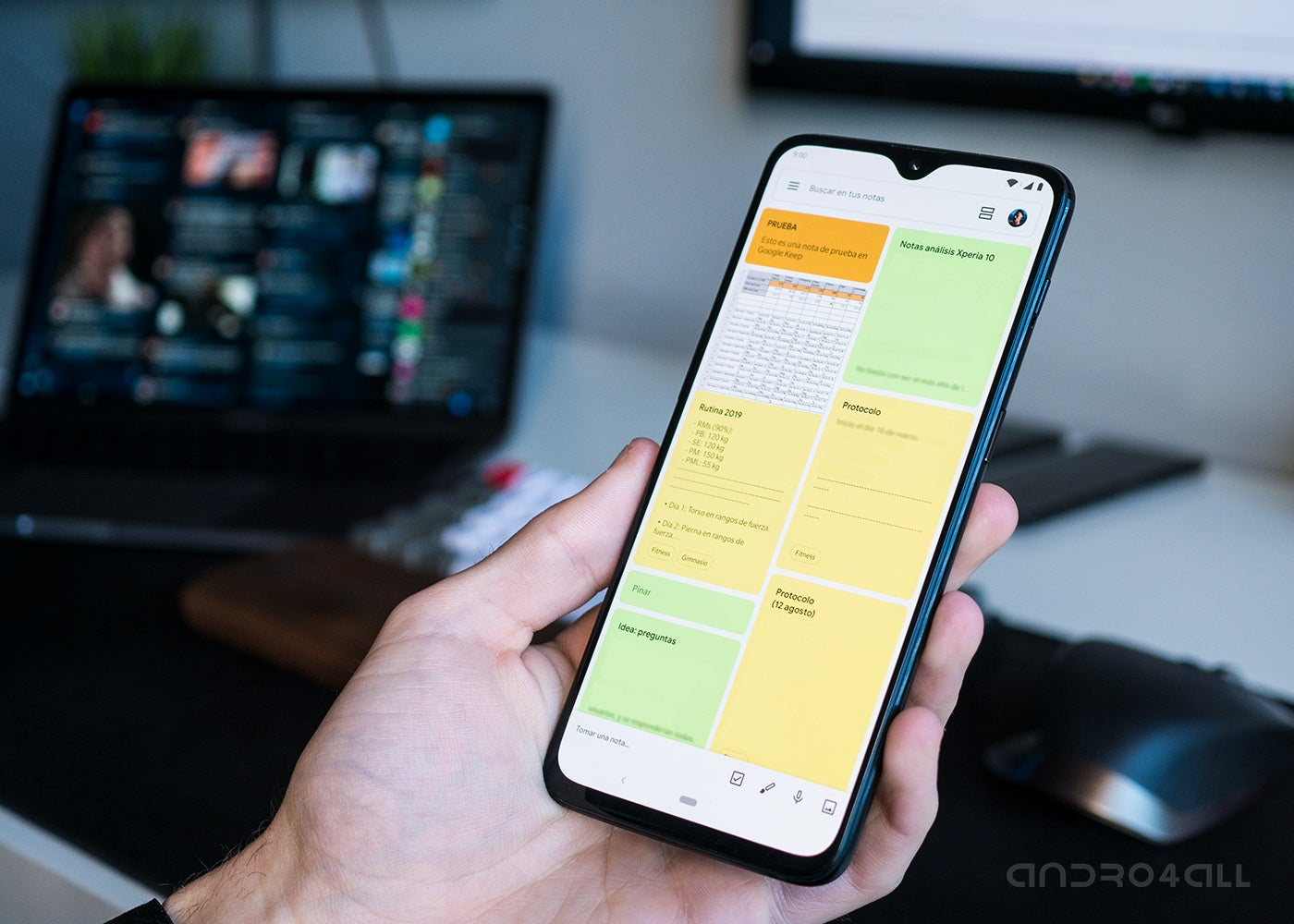 Google Keep on Android and other productivity apps