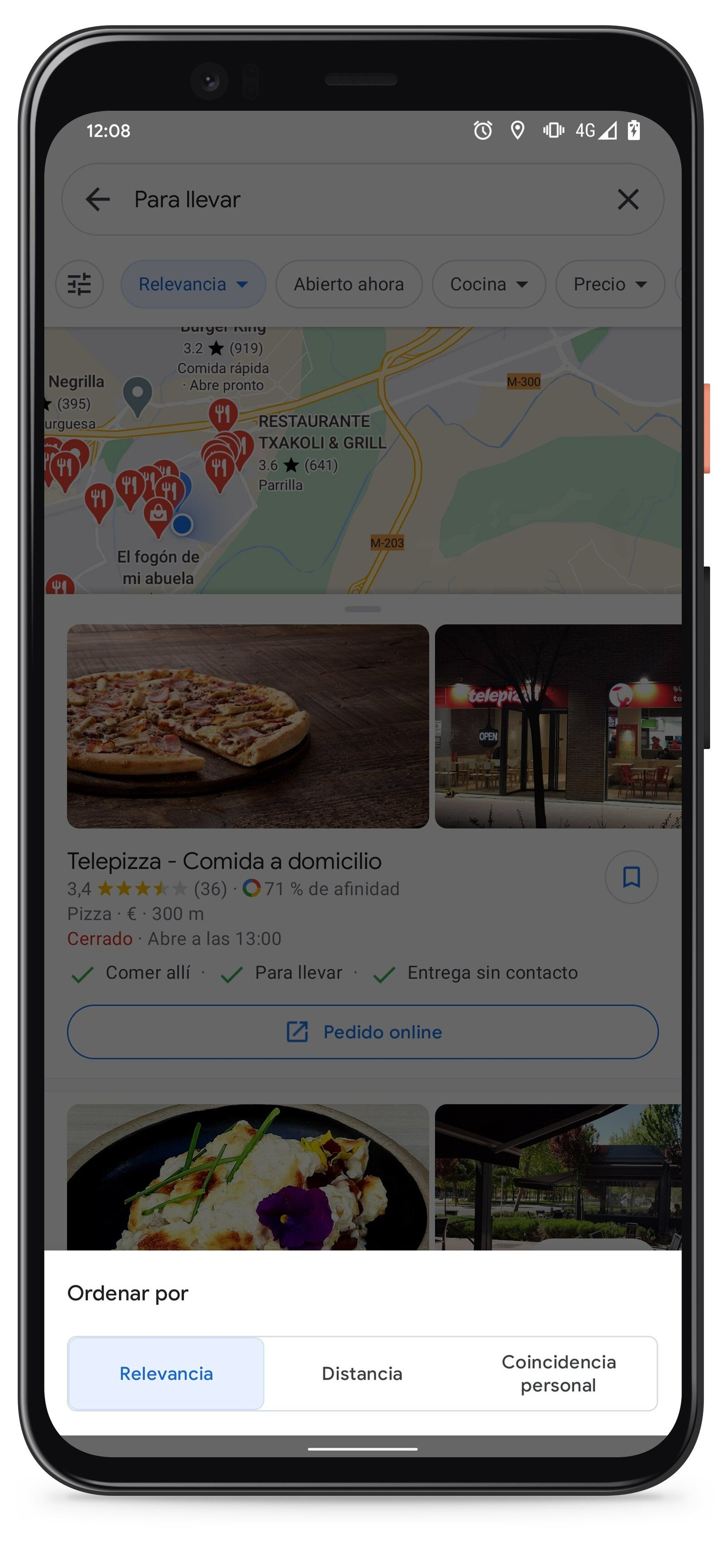 Trick: how to use Google Maps to find takeaway and delivery places