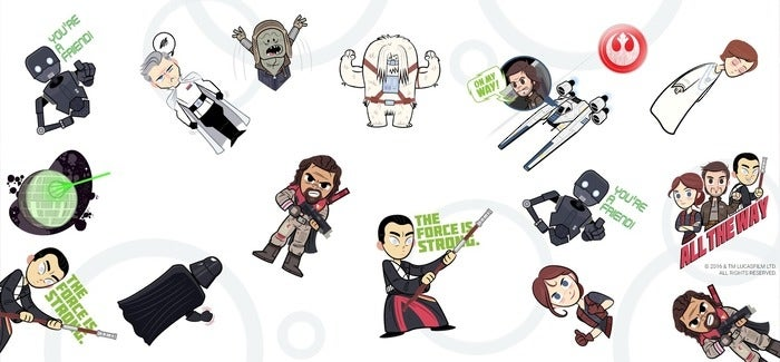 The new Star Wars stickers are now available for Google Allo