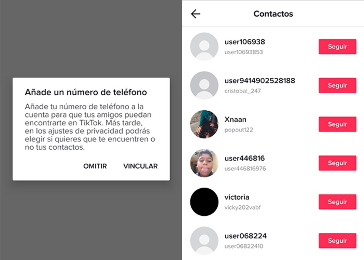 get someone on TikTok without a name from your mobile contacts