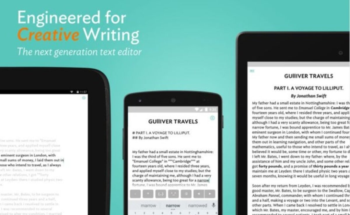 JotterPad App, write texts on Android