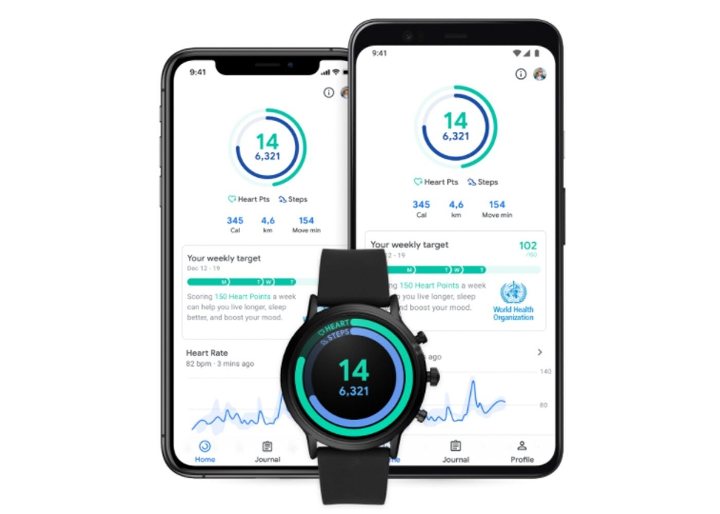 Google Fit new android design