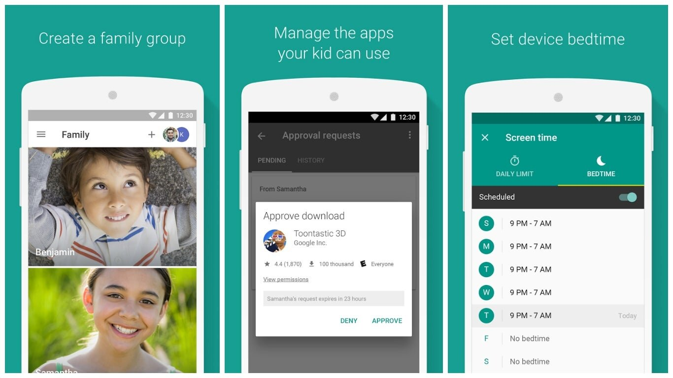 Family Link Android parental controls