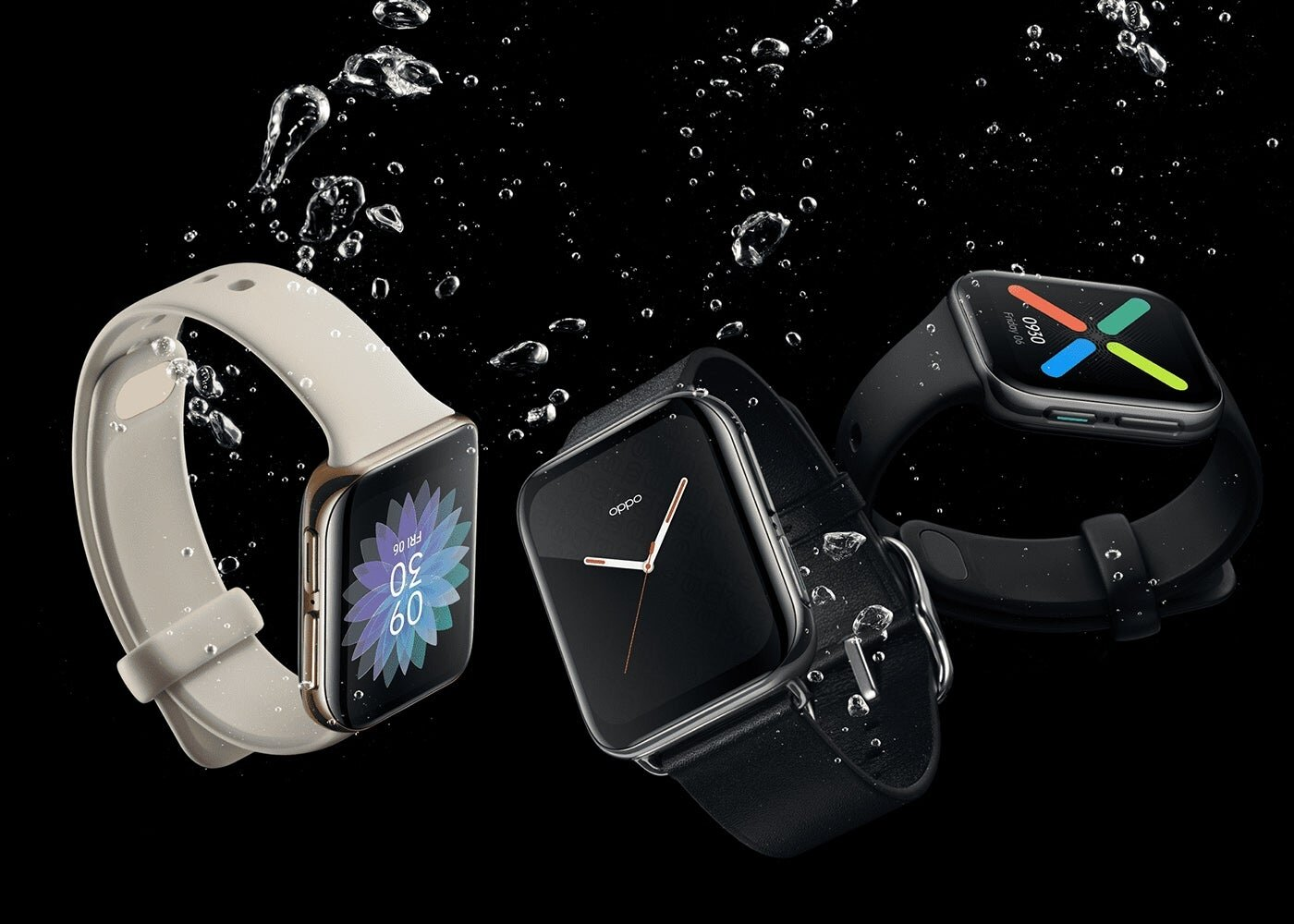 OPPO Watch in three colors