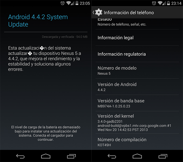Android 4.4.2 KitKaT Properties
