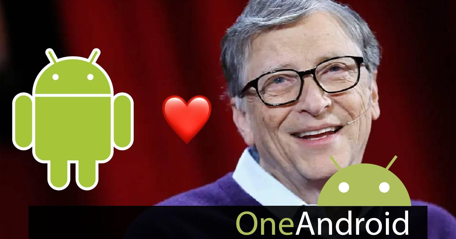 Bill Gates uses Android