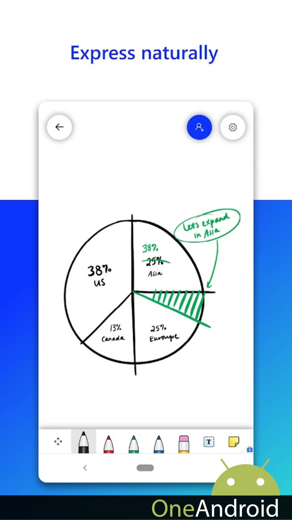 Microsoft's whiteboard app just arrived on Android: organize your ideas
