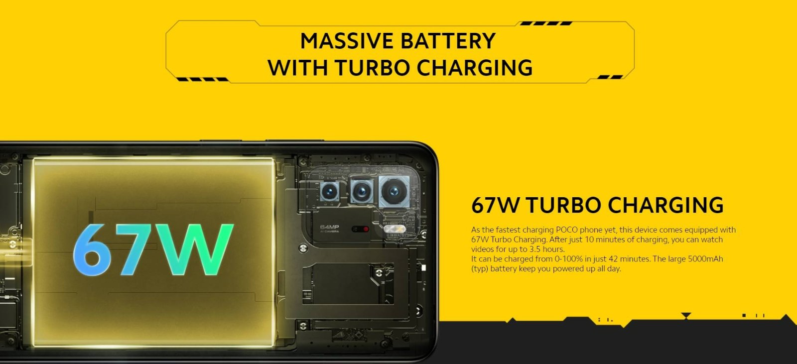 POCO X3 GT fast charge