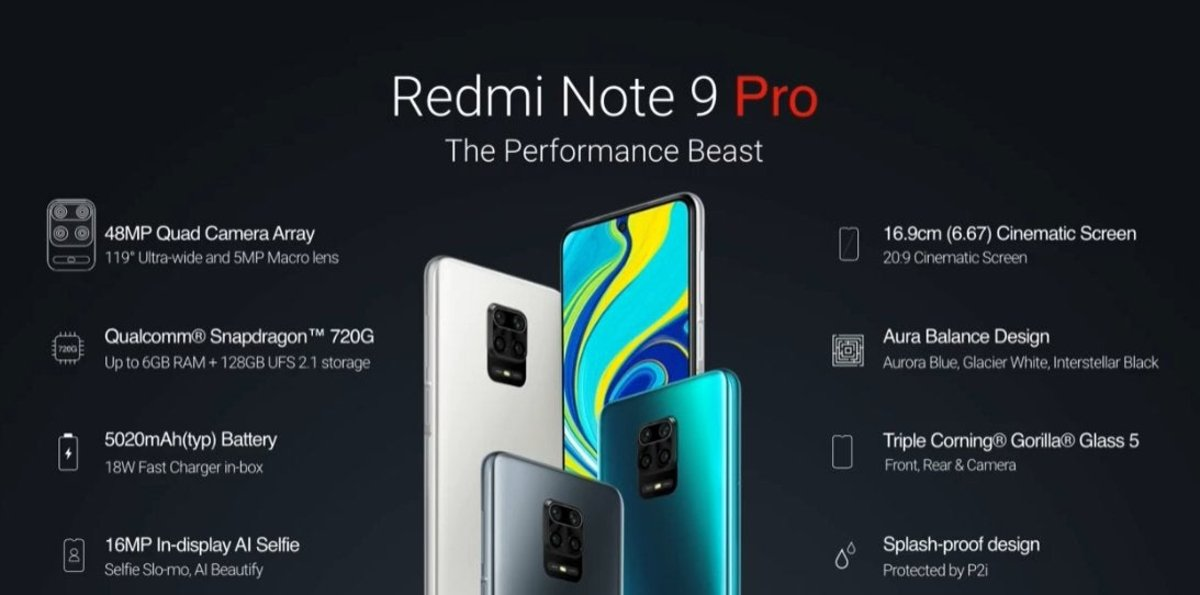 Redmi Note 9 Pro features