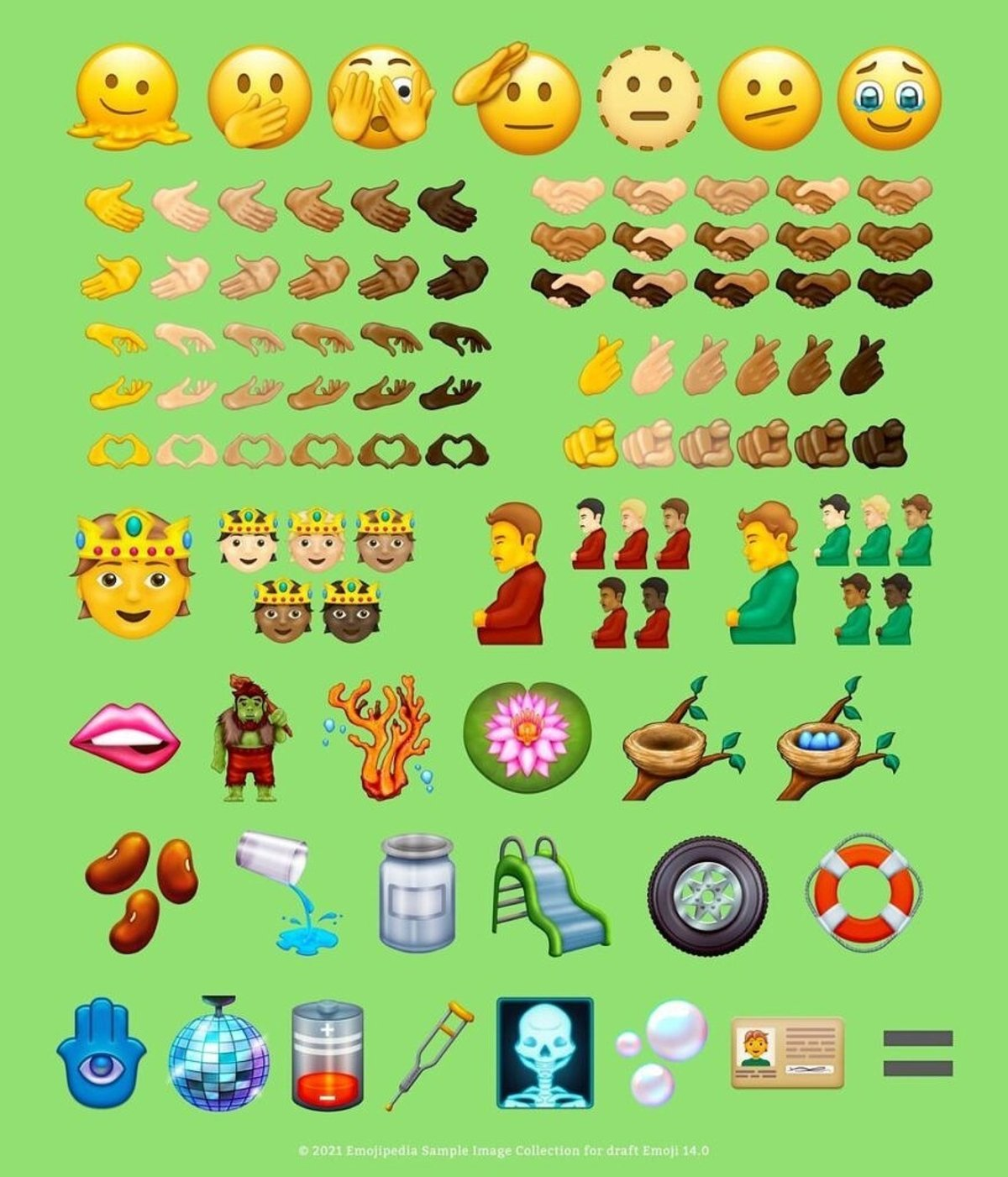 All the new emojis in Unicode 14
